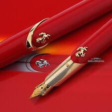Montegrappa For Ferrari FB Gold w/ Red Limited Edition Fountain Pen #013/288