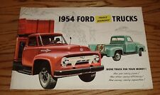 Original 1954 Ford Triple Economy Truck Sales Brochure 54