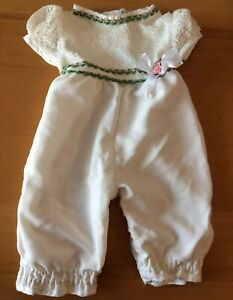 Baby Girls Dressy White Jumpsuit Party Baptism One-Piece Size 3-6M