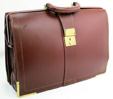 Vintage Price Waterhouse Leather Briefcase, Accountant, Lawyer, Satchel case