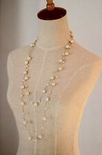 UK Seller Faux Pearl Double Layered Beaded Necklace Jewelry