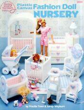 Fashion Doll Nursery Plastic Canvas PATTERN #3095 Barbie Dolls Crib Dressers