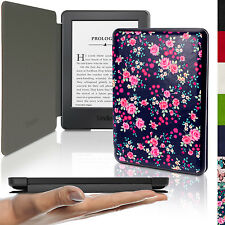 Rosa Floreale Ultra Sottile Ecopelle Custodia per Amazon Kindle 2014 7 Gen Cover
