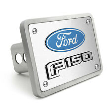 """Ford F-150 2015 up 3D Logo Brushed 3/8"""" thick Billet Aluminum 2"""" Tow Hitch Cover"""