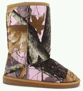 Women's Pink & Brown Mossy Oak Look Boots- Pink Camo size 6 1/2