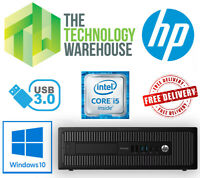 HP ProDesk 600 G2 PC - Intel i5-6500 CPU Up To 16GB Ram Up to 480 SSD Windows 10