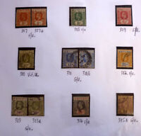 LOT OF 12 OLD CEYLON STAMPS, KGV SG307-315, MOSTLY F/U