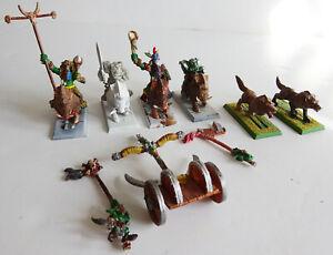 Warhammer ORC BOAR RIDERS Painted Citadel plus wolfs oop Games Workshop