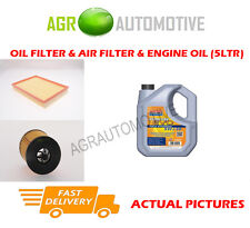 PETROL OIL AIR FILTER KIT + LL 5W30 OIL FOR VAUXHALL ASTRA 2.2 147 BHP 2001-05