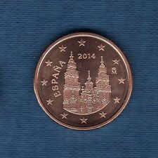 Espagne - 2014 - 5 centimes d'euro - Pièce neuve de rouleau -