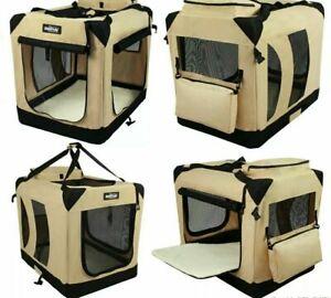 NIB EliteField 3-door Soft Folding Dog Crate + FREE Crate Mat & Carrying Bag