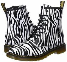 New Dr. Martens Womens Delaney Zebra Print Black White Boots Size 7