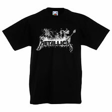 KINDER/KID/TEENAGE BLACK T-Shirt,  METALLICA 8 METAL -Unisex KURZARM/LANGARM