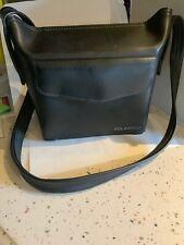VTG Black Polaroid Camera Case Faux Leather Bag Shoulder Strap Free Shipping