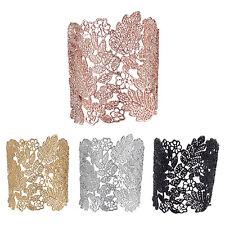 Skeleton Statement Lace Cuff Bracelets for Women Zinc Alloy Gold Plated  C4C2
