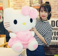 """27"""" Cute Hello Kitty Pink Love Giant Huge Stuffed Plush Animal Toys Doll Gifts"""