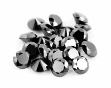 Real Natural Black Diamond 1.00MM to 4.00MM Round 3rd Grade Loose Diamond