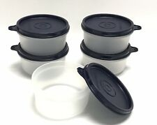 Tupperware Serving Cups 8 oz/250 ml Set of 5 snack lunch Navy Blue - NEW RARE!