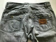 Dolce & Gabbana Designer Jeans NP365€ grau used look D&G comfort straight 32 34