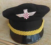 CRO ARMY, HOS Paramilitary unit 1991. hap cap badge USTASHA, NDH !