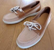 Hotter Laura Ladies Slip on Tan Brown Nubuck Leather Loafer Shoes UK 6 EU 39
