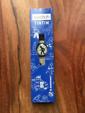 Tintin 75th Anniversary Swatch Watch No Stamp On Paper Work No Battery Boxed