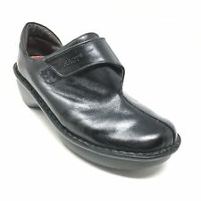 Women's Naot Clogs Booties Shoes Size 37 EU/6-6.5 US Black Leather Strapped K8
