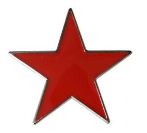 Red Star Badge Pin Enamel USSR Socialism Russia Corbyn Labour China Socialist
