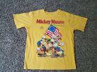Disney Mickey Mouse Magazine Goofy Donald Fourth of July T-Shirt Size M 7-8