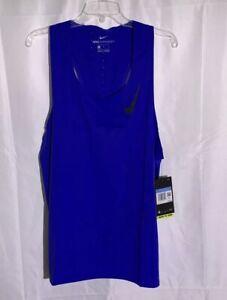 Nike AeroSwift Running Singlet Men's size Medium Blue