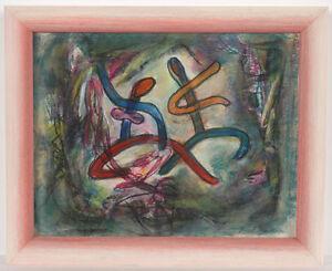 """Boris Deutsch (1892-1978) """"Dancers"""", mixed media, 1960/70s"""