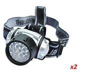 2x19 LED ULTRA BRIGHT HEAD  LIGHT LAMP CAMPING HIKING FISHING LIGHTING CAR