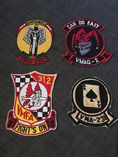 United States Marine Corps Aviation Squadron patch lot.  us military patches lot