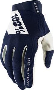 100% Ridefit Gloves - Navy/White / All Sizes