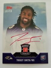 2011 Topps Rookie Premiere Torrey Smith #RP-TS Autographed RC 1/10