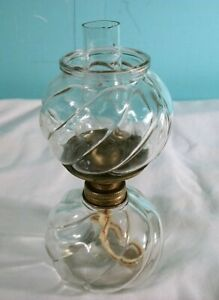 Vintage Mini Oil Lamp With New Wick