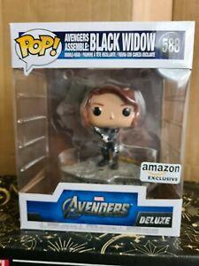 Funko Pop Vinyl - Marvel #588 Black Widow - Amazon Excl-Avengers Assemble deluxe