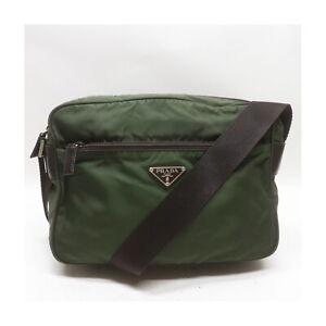 Prada Shoulder Bag  Greens Nylon 1521657