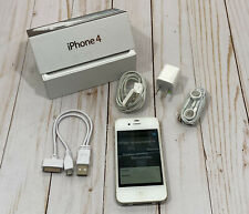 Apple iPhone 4 - 8Gb - White A1332 w/ Box, Accessories, Dual Charger - Works!