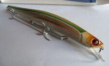 Noeby leurre pêche mer rivière 15cm 23g nage jusqu'à 1,5m marron vert argenté