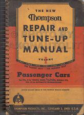 1941-1950 Thompson Car Repair and Tune-Up Manual Shop Book Engine Carburetor