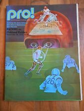 Old Vintage 1972 Pro! Magazine Program Booklet Green Bay Packers Oakland Raiders