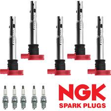 Ignition Coil & NGK Spark Plug For Audi TT A4 VW Golf Jetta GTI 2.0L 2.0T