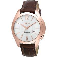 Reloj Hombre LIU JO Luxury BIONIC TLJ962 Piel Genuina Brown Gold Rose Clásico