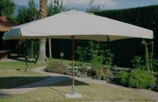 Ombrellone giardino 3x2 Palo centrale in Legno Telo idrorepellente Ecru OASIS