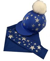 Cross Country Colours Base layer/Silk, Royal with silver scattered stars.