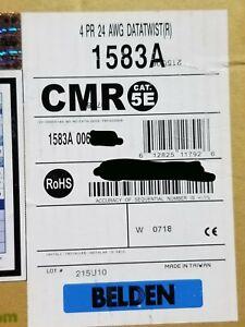 Belden Wire 1583A 24/4P CAT5E U/UTP DataTwist Network Cable Riser Blue /100ft
