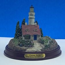 Thomas Kinkade Lighthouse statue sculpture figurine painter light Clearing Storm