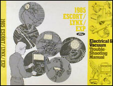 1985 Ford Escort EXP Lynx Electrical Troubleshooting Manual 85 Mercury 1.6 2.0