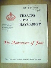 1898 Theatre Royal 1st Performance Programme- C Maude in THE MANOEUVRES OF JANE